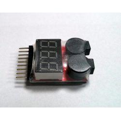 LiPo alarm 1-8 cella