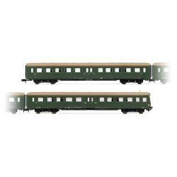 "Arnold HN4247 2db Személykocsi(1 x control cab) ""Lowa E5"", livery green with brown roof"