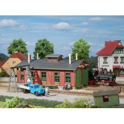 Auhagen 11355 Fűtőház keskenynyomközű mozdonyokhoz