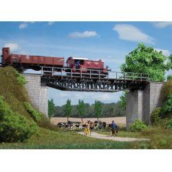 Auhagen 11365 Acélrácsszerkezetes vasúti híd