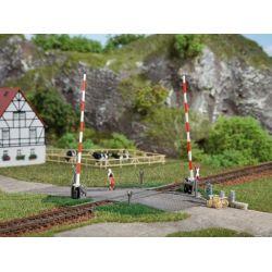 Auhagen 41604 Vasúti átjáró sorompóval