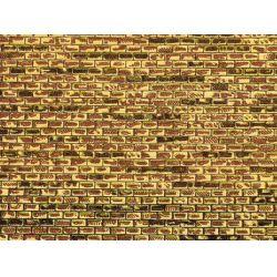 Auhagen 50101 Dekorlap (karton), egyenetlen téglafal, 220 x 100 mm, 5 db