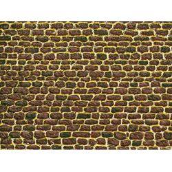 Auhagen 50102 Dekorlap (karton), egyenetlen téglafal, 220 x 100 mm, 5 db