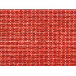 Auhagen 50104 Dekorlap (karton), téglafal, vörös, 220 x 100 mm, 5 db