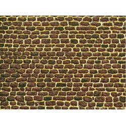 Auhagen 50502 Dekorlap (karton), egyenetlen téglafal, 220 x 100 mm