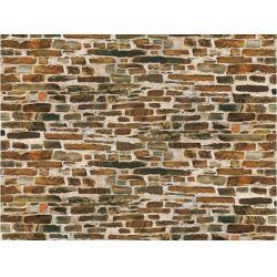 Auhagen 50515 Dekorlap (karton), mészkőfal, nagymintás, 220 x 100 mm