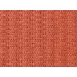 Auhagen 52216 Dekorlap, hódfarkú tetőcserép, 100 x 200 mm, 2 db