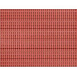 Auhagen 52225 Auhagen 52226 Dekorlap, cseréptető, téglavörös, 100 x 200 mm, 2 db