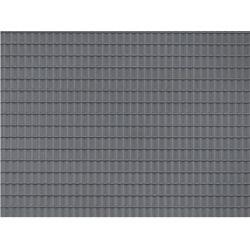 Auhagen 52226 Dekorlap, cseréptető, sötétszürke, 100 x 200 mm, 2 db