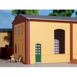 Auhagen 80602 Téglafal, 2325B, ipari ablaknyilással, sárga