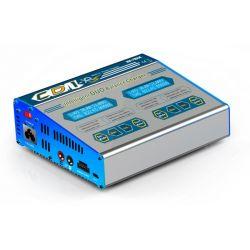 EV-Peak CD1XR Nagy teljesítményű duál töltő (220V/12V, 2x10A, 2x100W) LiHv/LiPo/LiFe/Li-ion/Ni-Cd/NiMH /Pb