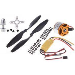 Brushless motor/ESC/légcsavar combo szett