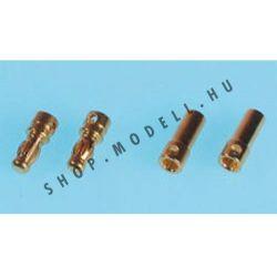 Csatlakozó arany 3,5mm 1 pár