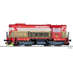 Tillig 02758 Dízelmozdony Rh 740 'CECHOMOR', KDS s.r.o. Kladno VI