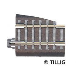 Tillig 83722 Ágyazatos egyenes sín G5 36 mm, balos váltóhoz