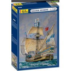 Heller 80841 Grande Hermine vitorlás hajó makett