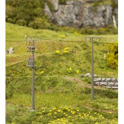 Faller 180928 Villanyoszlopok, távvezetéktartó oszlopok, 4 db