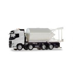Herpa 013604 Volvo FH teherautó, építkezési silótartállyal, összerakhatós Minikit