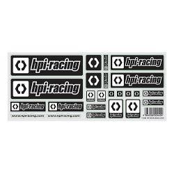 HPI 112888 HPI RACING FEKETE LOGO MATRICA