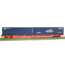 Konténerszállító kocsi Sggnss, Cronos és NYK Logisticskonténerekkel,RCA/NACCOVI
