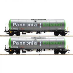Igra 96110006 Tartálykocsi fékhíddal Zacns szett, Pannonia Ethanol, WASCOSA VI