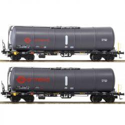 Igra 96210017 Tartálykocsi fékhíddal Zacns 88 készlet, Ermewa VI, vörös logóval