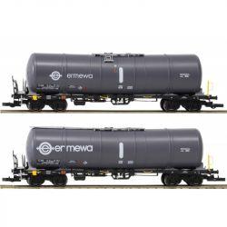 Igra 96210018 Tartálykocsi fékhíddal Zacns 88 készlet, Ermewa VI, fehér logóval