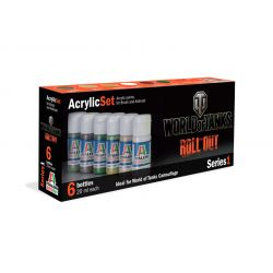 Italeri 446AP ACRYLIC SET 6db: WORLD OF TANKS akril makett festék