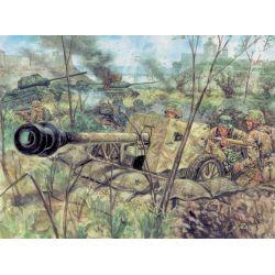 Italeri 6096 WWII- GERMAN PAK40 AT GUN & CREW