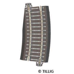Tillig 83726 Ágyazatos íves sín R12 kiegészítő ív 15'-os balos váltókhoz