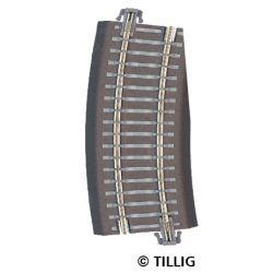 Tillig 83725 Ágyazatos íves sín R12 kiegészítő ív 15'-os jobbosos váltókhoz