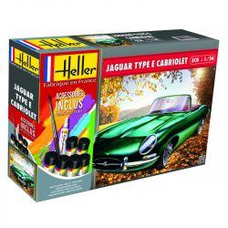 Heller 56719 Jaguar Type E Cabriolet kezdő szett