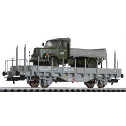 Liliput 235047 Pőrekocsi Kms katonai teherautóval SBB IV