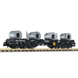 Liliput 265765 Nehézteherszállító lemeztekercsekkel Sahmms 711 486 9 103-0 DB IV-V N