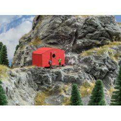 Noch 14238 Lézervágott modern alpesi menedékház, bivak