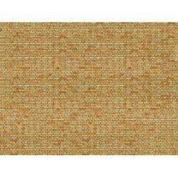 Noch 56613 3D-s dekorlap, klinkertégla fal, sárga, 250 x 125 x 0,5 mm
