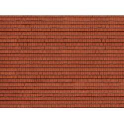 Noch 56670 3D-s dekorlap, tetőcserép, vörös, 250 x 125 x 0,5 mm