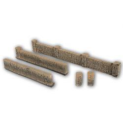 Noch 58282 Kőfal (kőkerítés), terméskő, homokkő