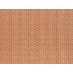 NOCH 60360 3D-s dekorlap, hódfarkú tetőcserép, vörös, 28 x 10 cm