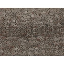 NOCH 60371 3D-s dekorlap, terméskő fal, 28 x 10 cm