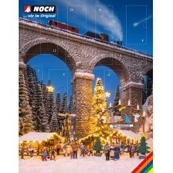 NOCH 65590 Bastel-Adventskalender Weihnachtsmarkt