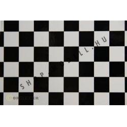 Oracover kockás fekete-fehér