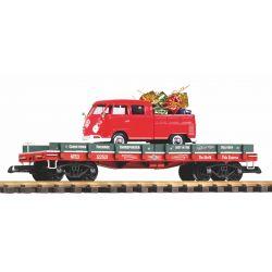 PIKO 38776 G-Autotransportwagen Weihnachten mit VW Kombi