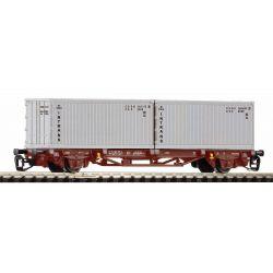 PIKO 47724 Konténerszállító kocsi Lgns, Intrans konténerekkel, CSD IV