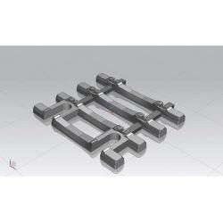 Piko 55151 Flexivég végtaplfa betontalpfás flexibilis sínhez, 31 mm/db