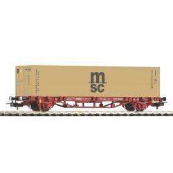 PIKO 58773 Konténerszállító kocsi Lgs, MSC konténerrel, FS V
