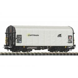 PIKO 58964 Eltolható oldalfalú ponyváskocsi Shimmns, Captrain VI