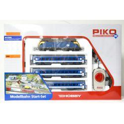 PIKO 97926 MÁV kezdőkészlet, Rh 1047 009-6 Taurus villanymozdony, személyvagonokkal, MÁV H-Start