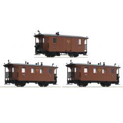 Roco 34043 Személykocsi szett, keskenynyomközű, RüKB I