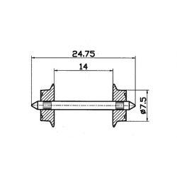 Roco 40184 AC Radsatz Paar 7,5mm (40
